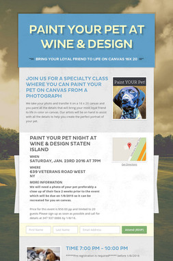 Paint Your Pet at  Wine & Design