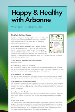Happy & Healthy with Arbonne