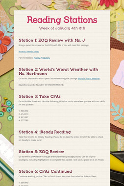 Reading Stations