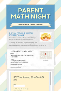 Parent Math Night