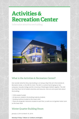 Activities & Recreation Center
