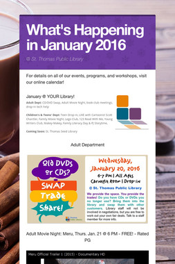 What's Happening in January 2016