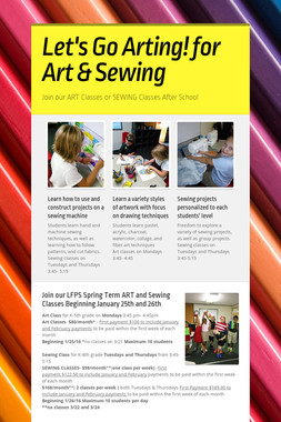 Let's Go Arting!  for Art & Sewing
