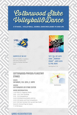Cottonwood Stake Volleyball&Dance