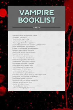 Vampire Booklist