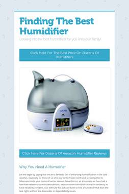 Finding The Best Humidifier