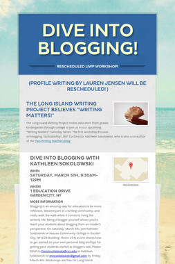Dive Into Blogging!