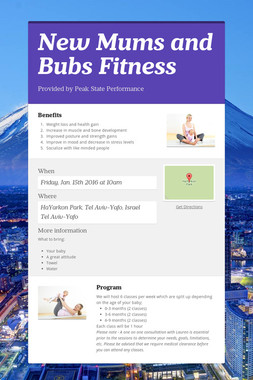 New Mums and Bubs Fitness