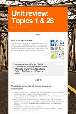 Unit review: Topics 1 & 28