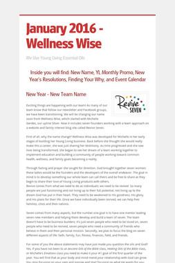 January 2016 - Wellness Wise