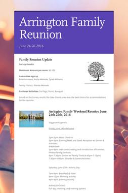 Arrington Family Reunion