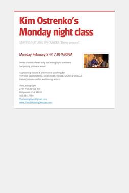Kim Ostrenko's Monday night class