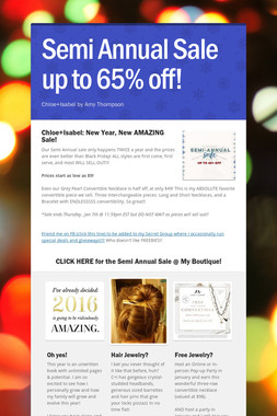 Semi Annual Sale up to 65% off!