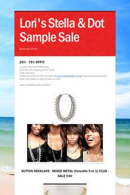 Lori's Stella & Dot Sample Sale