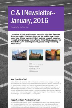 C & I Newsletter--January, 2016