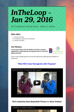 InTheLoop - Jan 29, 2016