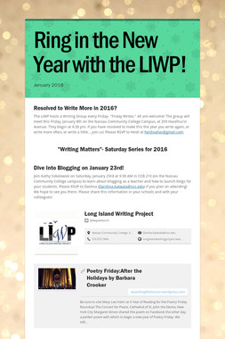 Ring in the New Year with the LIWP!