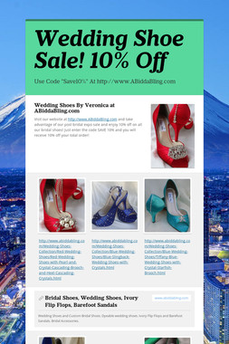 Wedding Shoe Sale! 10% Off