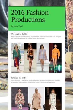 2016 Fashion Productions