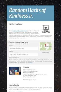 Random Hacks of Kindness Jr.