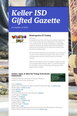 Keller ISD Gifted Gazette