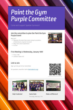 Paint the Gym Purple Committee