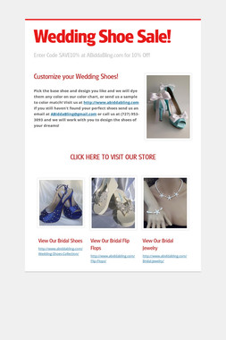 Wedding Shoe Sale!