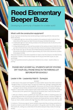 Reed Elementary Beeper Buzz