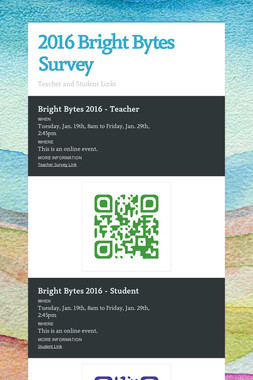 2016 Bright Bytes Survey