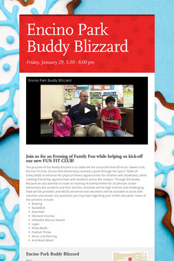 Encino Park Buddy Blizzard