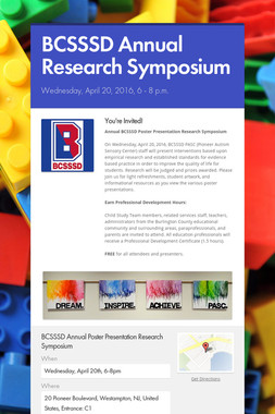 BCSSSD Annual Research Symposium