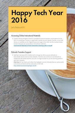 Happy Tech Year 2016