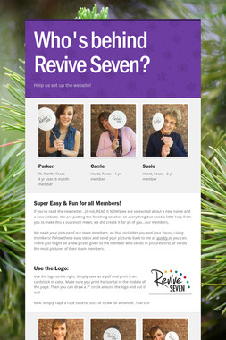 Who's behind Revive Seven?