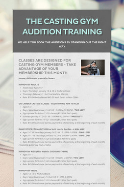 The Casting Gym  Audition training