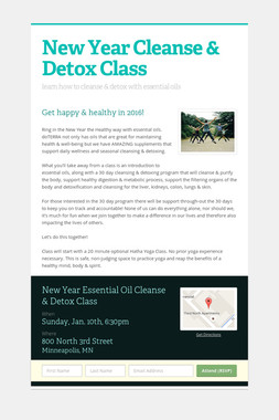 New Year Cleanse & Detox Class