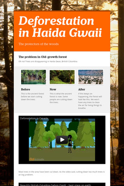 Deforestation in Haida Gwaii