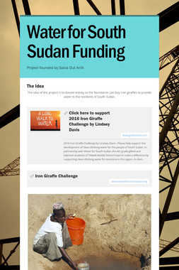 Water for South Sudan Funding