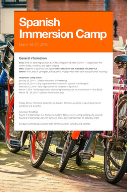 Spanish Immersion Camp