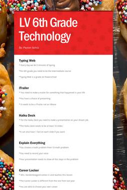LV 6th Grade Technology