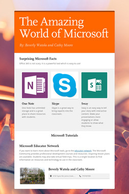 The Amazing World of Microsoft