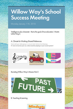 Willow Way's School Success Meeting