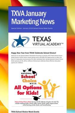 TXVA January Marketing News