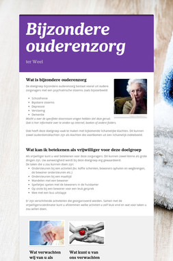 Bijzondere ouderenzorg