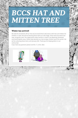 BCCS HAT AND MITTEN TREE