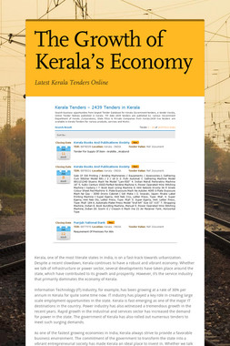 The Growth of Kerala's Economy