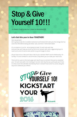 Stop & Give Yourself 10!!!