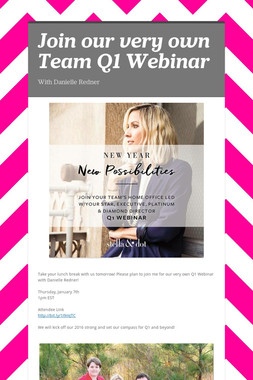 Join our very own Team Q1 Webinar