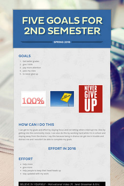 Five goals for 2nd semester