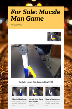 For Sale: Mucsle Man Game