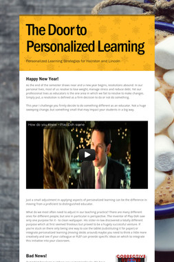 The Door to Personalized Learning